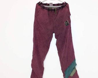 Lilac Ski Suit Pants Snowboarding Pants Outdoor Pants Burgundy Winter Pants Snow Pants Hipster Pants Warm Windbreaker Pants Size Medium