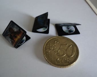 Miniature DVD with cases, 1/12th scale