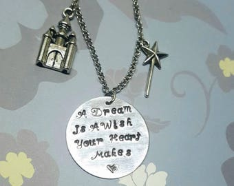 A Dream Is A Wish Your Heart Makes - Necklace