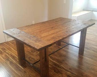 Industrial Table / Farmhouse Dinner Table / Rustic Dining Room Table / Handmade