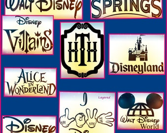 Walt Disney logos - Disney logos svg png dxf jpeg eps files for the cricut and other cutting machines