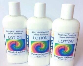 8 0z Patchouli Lotion / Peaceful Patchouli / Goat Milk Lotion / Luxury Lotion / All Natural Lotion / Patchouli / Natural Lotion