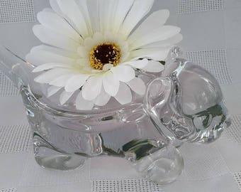 Vannes Le Chatel Crystal Cat Trinket, or Pipe Rest, France