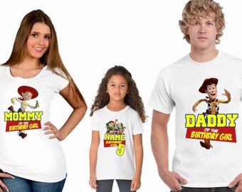 Toy story birthday family t-shirts for kids a infants - youth and adults -  toy story (mom-dad-bithday boy or girl -little sister or brother
