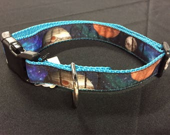"Large, Milky Way Dog Collar, 1"" Buckle (Space, Planets, Galaxy, Stars)"