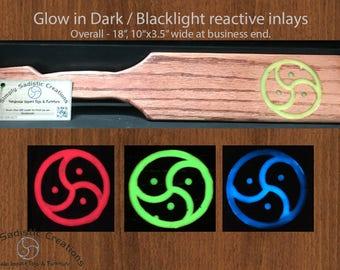BDSM Glow in dark inlay -  Triskle