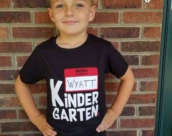 First Day Shirt, Kids Kindergarten Top, School