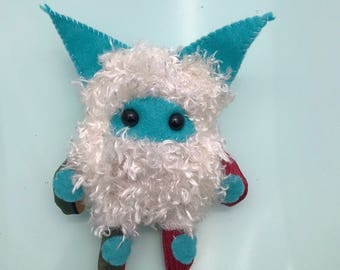Lil' Monster Plush// monster plush, monster stuffed animal, denton monster, monster stuffed toy, ooak plush, art toy, toy, ooak doll, denton