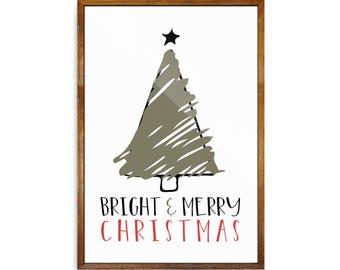 Christmas Print | Christmas Wall Art | Christmas Poster | Merry Christmas Print | Holiday Wall Art | Christmas Wall Decor | Festive Print