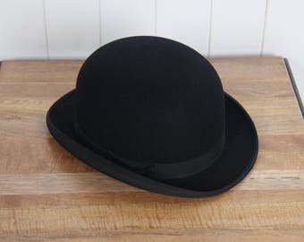 Luxury Fur Felt Devon Bowler Hat of Christys' London, made from stiifened felt fur