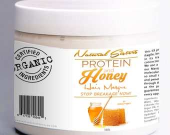 Protein and Honey Deep Conditioing Hair Masque, natural hair, Honey hair mask, strengthening mask, protein haircare, stop breakage