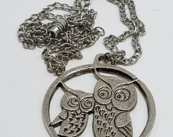 Whooo Loves Owls?  Unique & Fun Pewter Tone Owl Pendant and Chain