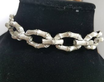 Stunning Lisner Silver Tone Link Style Necklace