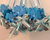 Elephant gray baby shower pacifier/elephant baby shower necklace game/elephant gray baby shower favor/elephant gray baby shower(10