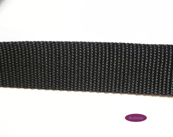 Webbing 30 mm 1.4 mm black UV