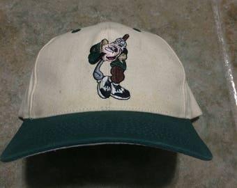 Vintage mickey mouse golf disney strapback hat