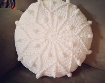 Snowflake Pillow - crocheted