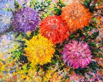 Modern wall art ''Floral fiesta''