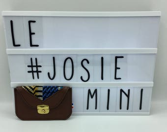 Josie Leather Brown Blue