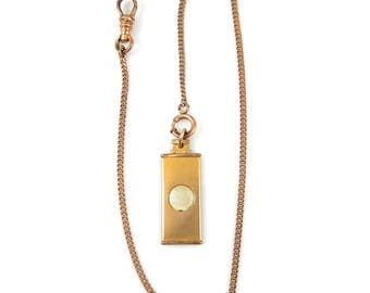 Cigar Cutter Watch Fob & Chain Gold Filled