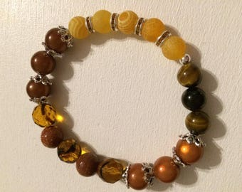 Brown, yellow Agate bracelet