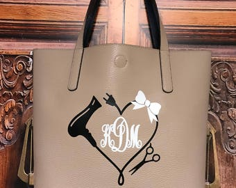 Monogram Purse, Hairstylist Purse, Beautician Bag, Hairdresser Bag,  Hairdresser Tote, Hairdresser Purse, Stylist Purse