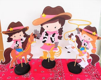 Cowgirl Centerpieces, Cowgirl Birthday Centerpiece, Cowgirl Baby Shower  Decorations, Cowgirl Theme, Party