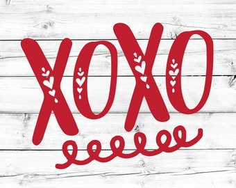 XOXO Svg, Hugs and Kisses Svg, Valentine's Day Svg, Heart Svg, Valentines Svg, Toddler Svg, Clip Art, Svg for Cricut, Silhouette