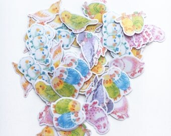 A Little Bird Told Me Flakes Stickers