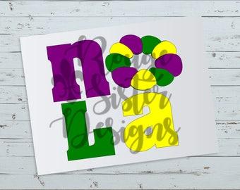NOLA King Cake Mardi Gras SVG File