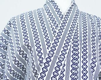 Vintage Kimono Robe - Women's Clothing/Men's Clothing/yukata/cotton robe/kimono jacket/dressing gown/boho kimono/coverup/kimono cardigan
