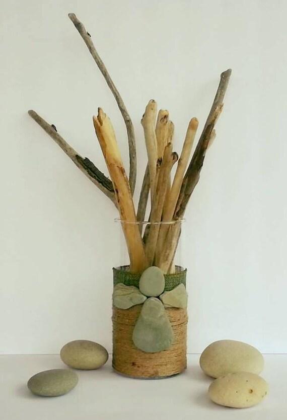 Driftwood table decor centerpiece driftwood art beach for Driftwood table centerpieces