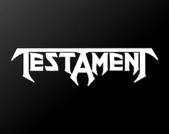 Testament Vinyl Decal Car Window Laptop Thrash Metal Band Sticker