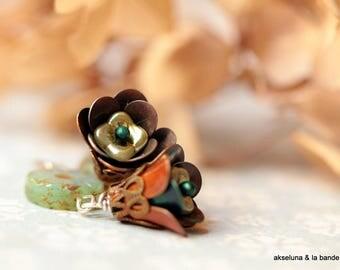 """Earrings """"Petals"""" Czech glass beads"""