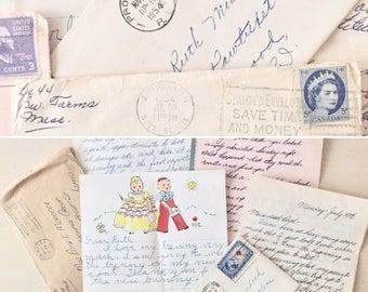 Vintage Letters - 1950's - Postage - Ephemera