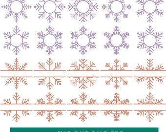 70% OFF, Snowflake svg, Snowflake Monogram svg, Frozen Vinyl Decal in svg, Christmas Snowflake Svg, Dxf, Eps, Png files, Snowflakes Clip Art