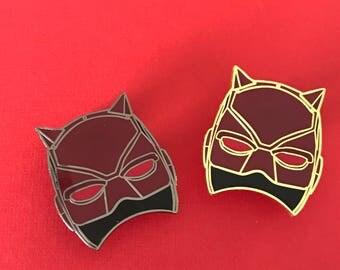 "Daredevil Mask - 1.5"" Enamel Pin  - Black Nickel OR Gold - Defenders - Hell's Kitchen - Marvel - Netflix - Charlie Cox - Lapel, Hat, Bag Pin"