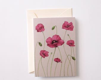 Poppies A6 Greeting Card