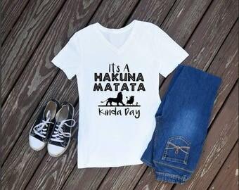 It's A Hakuna Matata Kinda Day Women's T-Shirt, Animal Kingdom, Disney Shirts, Animal Kingdom Shirts