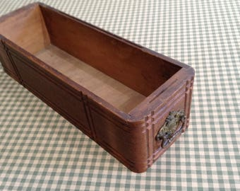 Vintage Sewing Machine Drawer | Ornate Hardware | Rustic Wooden Box | Wooden Drawer | Storage Box