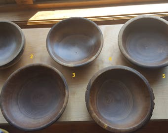 Live edge, end grain, black walnut bowl
