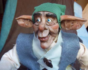 Ooak art doll- The librarian goblin Rapamulfo