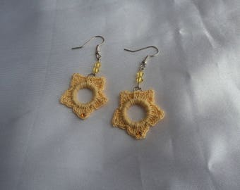 Fully crocheted 'Star' earrings