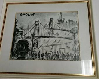 Pascal Cucaro Print-San Francisco Scene