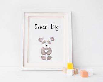 Animal Nursery Prints/ panda / lion / elephant / giraffe / New baby / Nursery Decor