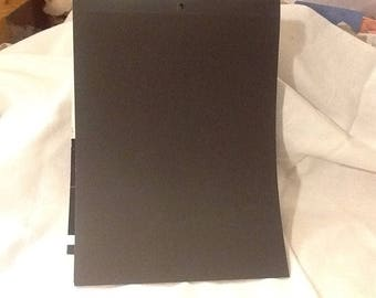 10 sheets black card stock