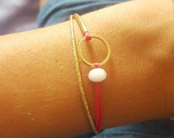 Bracelet fine gold and gold details