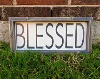 Rustic Blessed Sign. FREE SHIPPING