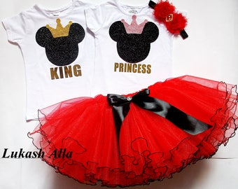 Minnie Mouse 1st birthday outfit, 2nd birthday outfit, 1st Birthday Girl Outfit, Tutu Set,Minnie Mouse Birthday Tutu Dress,Minnie Mouse tutu