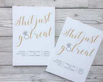 quirky save the dates - got real save the dates